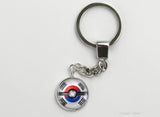 South Korean Flag themed Pokeball Key Chains