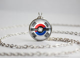 South Korea Pokemon Flag pokeball necklace