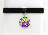 Splatoon Turf War Squids Yin & Yang Choker Necklace