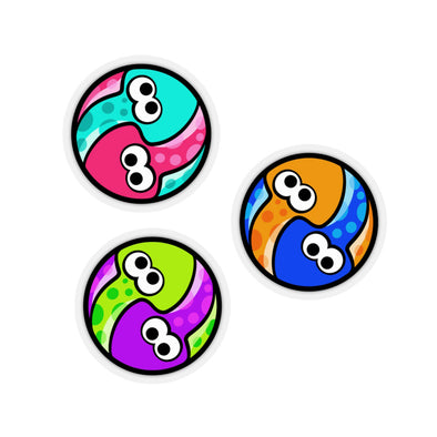 Splatoon Turf War Squids Yin & Yang Stickers