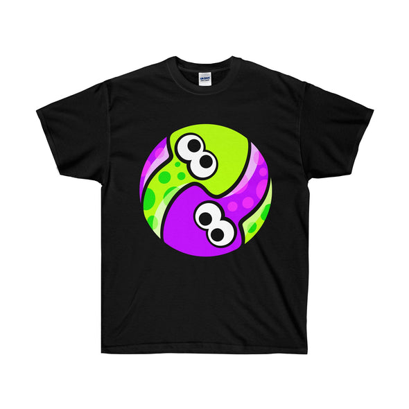 Green vs Purple splatoon shirt