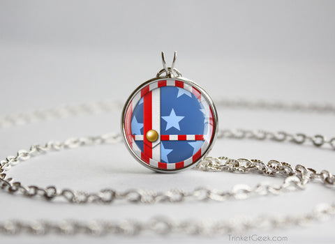 Stars and Stripes Mario Smash Ball necklace