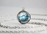 Steel Type Pokemon Necklace Themed Pokeball pendant