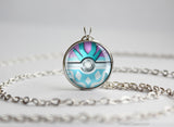 Pokemon Crystal Suicune Pokeball Necklace