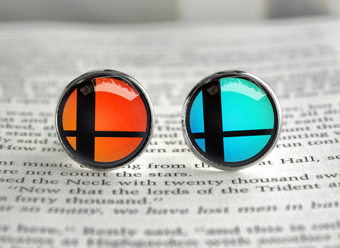 Super Smash cufflinks Symbol of Bros