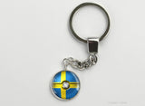 Swedish Flag themed Pokeball Key Chains