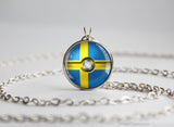 Sweden Pokemon Flag pokeball necklace