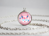 Sylveon Pokemon Eeveelution Chibi Portrait necklace