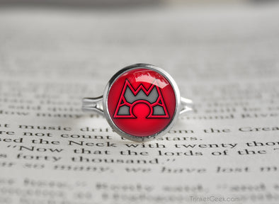 Pokemon Omega Ruby Team Magma Symbol silver ring
