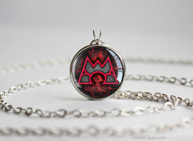 Pokemon necklace Team Magma emblem