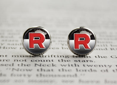 Pokemon earrings Team Rocket symbol