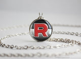 Pokemon necklace Team Rocket symbol