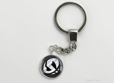 Pokemon Sun and Moon Team Skull key chain