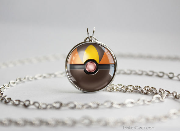 Tepig Pokemon Unova Starter Themed Pokeball pendant