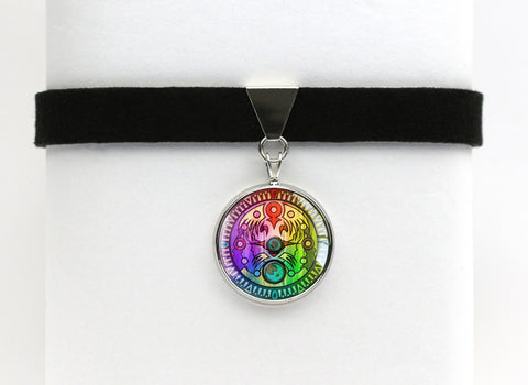 Zelda Majora's Mask Termina Clock Choker Necklace