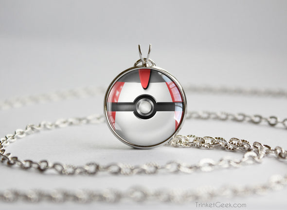 Pokemon Pokeball Timer Ball Necklace Pendant