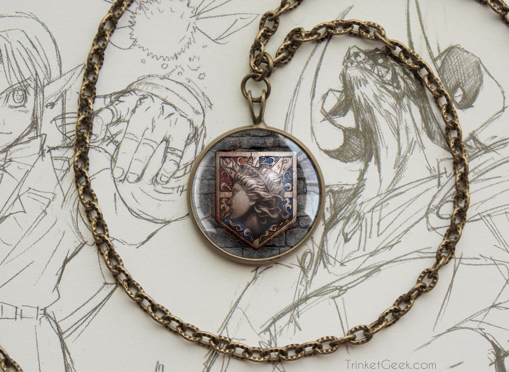 Attack on Titan Shingeki no Kyojin necklace SNK Wall Maria emblem