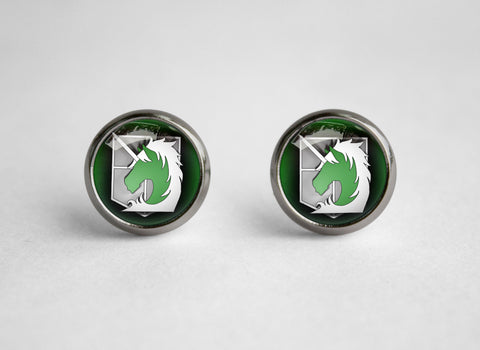 Attack on Titan Shingeki no Kyojin earrings SNK Millitary police
