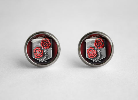 Attack on Titan Shingeki no Kyojin earrings SNK Garrison