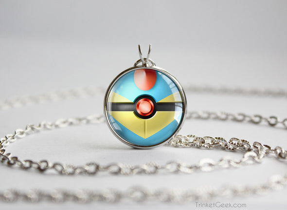 Totodile Pokemon Johto Starter Themed Pokeball pendant