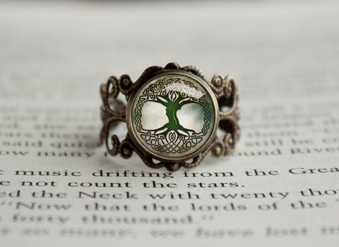 Tree of Life antique style ring