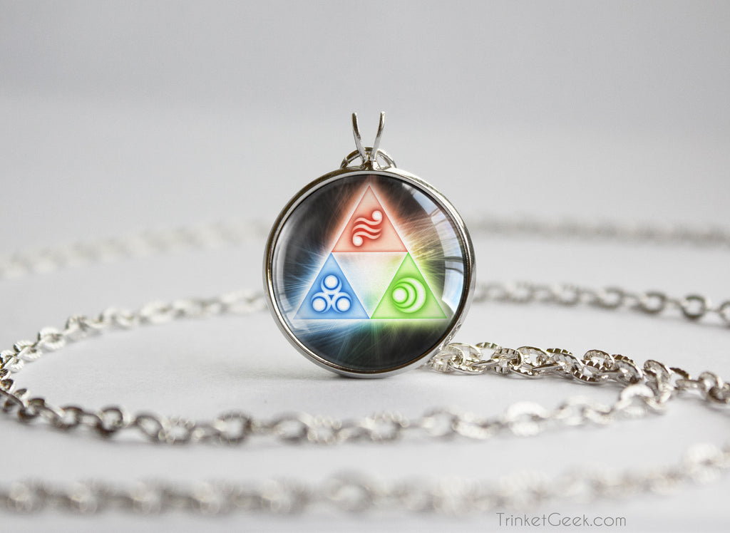 Zelda Golden Goddess Triforce necklace