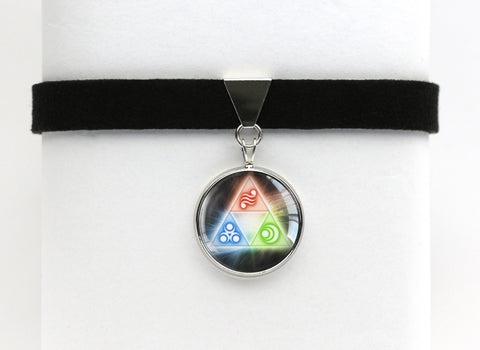 Zelda Golden Goddesses Triforce Choker Necklace