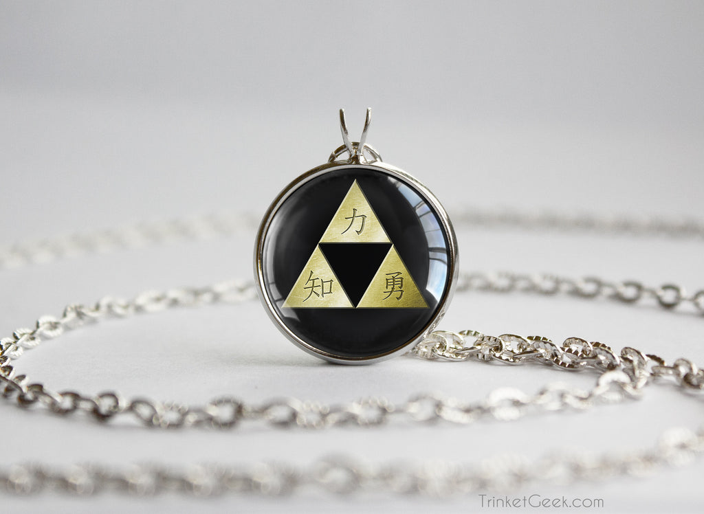 Zelda necklace ocarina of time Kanji Triforce