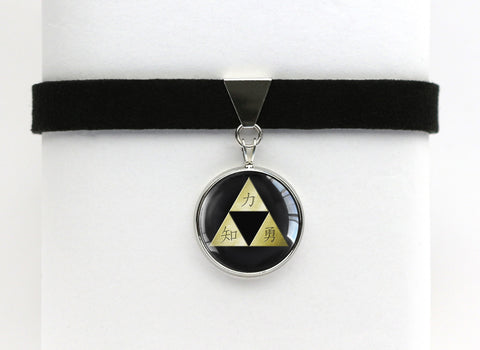 Zelda Kanji Triforce Choker Necklace