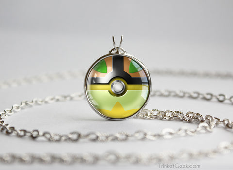 Turtwig Pokemon Sinnoh Starter Themed Pokeball pendant