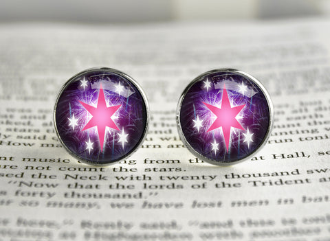 Pony MLP cutiemark cufflinks Twilight stars