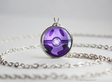 Ghost Type Pokemon Necklace Themed Pokeball pendant