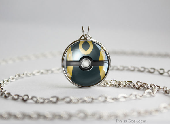 Pokemon Umbreon Eeveelution Pokeball Pendant Necklace