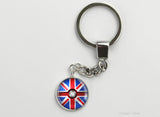 English Flag themed Pokeball Key Chains