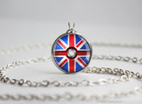 United Kingdom Pokemon Flag pokeball necklace