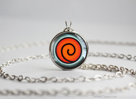 Naruto necklace Uzumaki clan symbol