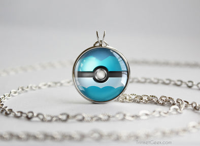Pokemon Vaporeon Eeveelution Pokeball Pendant Necklace