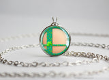 Super Smash Ball Villager necklace