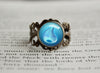 Water Type Pokemon Symbol antique bronze ring
