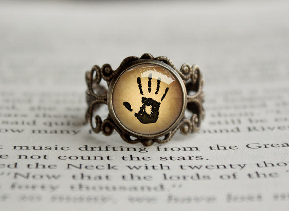 The Darkbrotherhood Mysterious Note We know Vintage style Ring