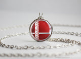 Red and White Mage Robin Smash Ball necklace