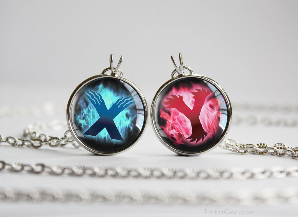 Pkmn Friendship Couple Pendants set X Y