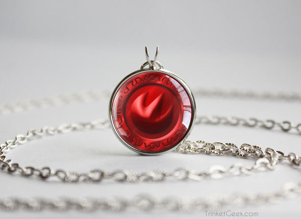 Zelda Fire Medallion Necklace