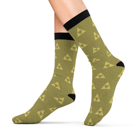 Zelda Socks Triforce