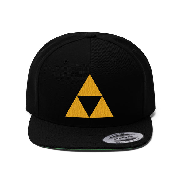 Zelda Triforce hat Flat Brimmed Bill Video Game cap