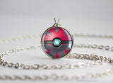 Pokemon Zoroark Themed Pokeball Pendant