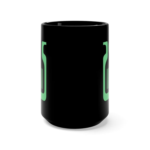 Monster Hunting Green Potion Tall Black Mug