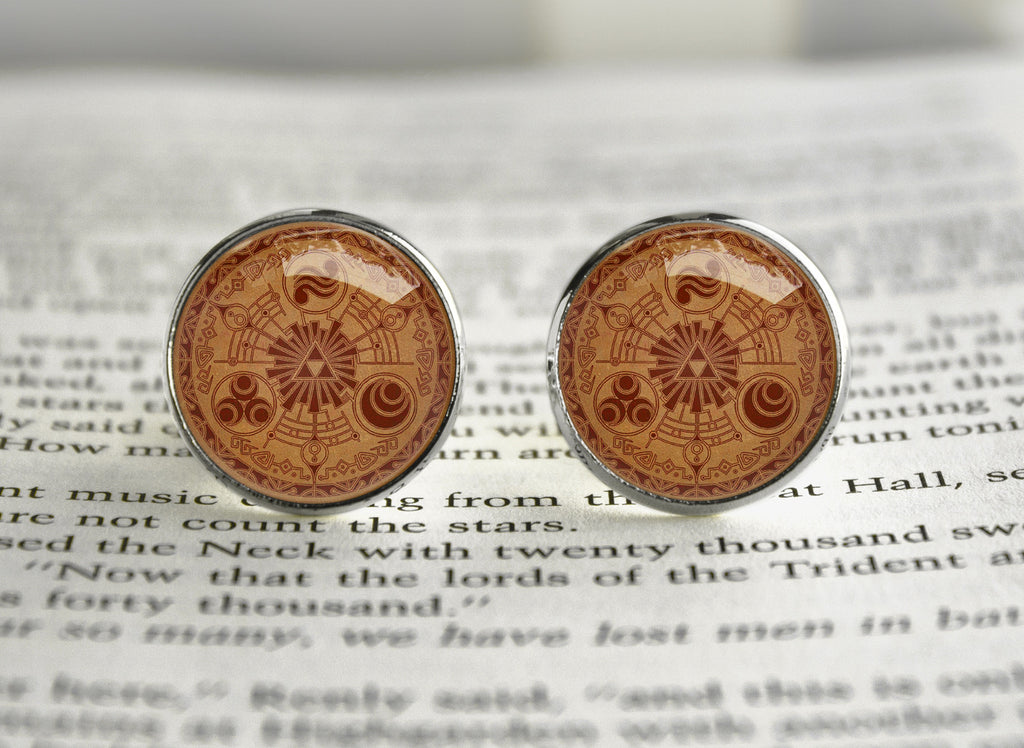 Zelda Cufflinks Brown Gate Historia of Time