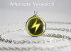 Pokemon pendant necklace electric type symbol