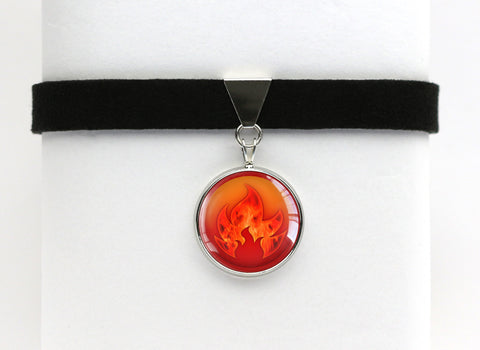 Fire Type Symbol Pokemon Choker Necklaces